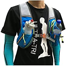 Running Backpack Lightweight Outdoor Sport Bag Race Training Professional Vest Pack 8L Blue Trail Run Jogging Hiking Cycling Pack