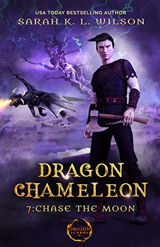 Dragon Chameleon Chase the Moon by sarah kl wilson
