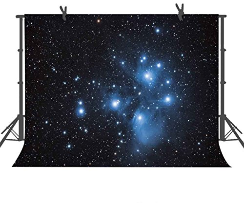 (FUERMOR Background 7x5ft Night Starry Sky Photography Backdrop Studio Photo Props)