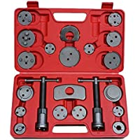Coffret Set Repousse Piston d'Étrier de Frein - Kit d'outils 22 pièces - Adaptateurs inclus