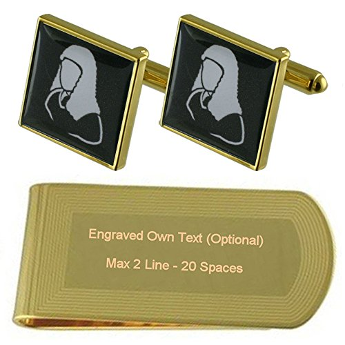 Engraved tone Set Barrister Money Cufflinks Judge Gold Gift Clip qTUxHqSw7