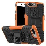 Oneplus 5 Case - NOKEA Dual-Layer [Soft TPU Interior] [Durable PC Exterior] Case For Oneplus 5 Case (2017) (Orange)