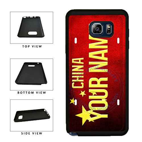 BleuReign(TM) Personalized Custom Name License China Country Flag Plate TPU RUBBER SILICONE Phone Case Back Cover For Samsung Galaxy Note - Kong Name Official Hong Of
