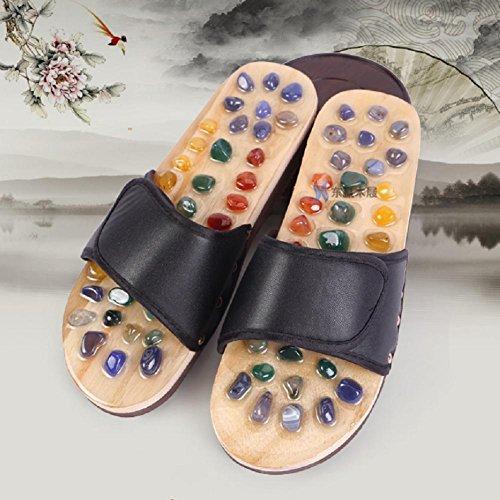 Pieds Pieds À Sandales Pantoufles La Naturel 41 Des Massage Des Maison Pieds Acupoints Naturel Agate Massage 474xwBqv