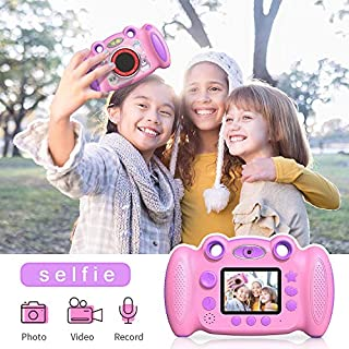 "Campark Kids Cameras for Girls Boys Birthday Gift for Age 4-8 Dual Selfie, 2"" Screen Record Video Photo, Shockproof Children Digital Camera for Toddler Elementary Students"