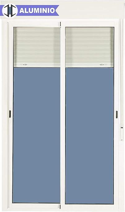 Balconera Aluminio Corredera Con Persiana PVC 1500 ancho × 2185 alto 2 hojas (marco y cajón persiana en kit): Amazon.es: Bricolaje y herramientas