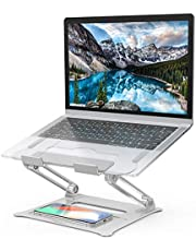 """$21 » Adjustable Laptop Stand, Aluminum Computer Riser, Ergonomic Portable Laptops Elevate Stand for Desk, Multi-Angle with Heat-Vent Height Holder Compatible with 10-17"""" Notebook Computer"""