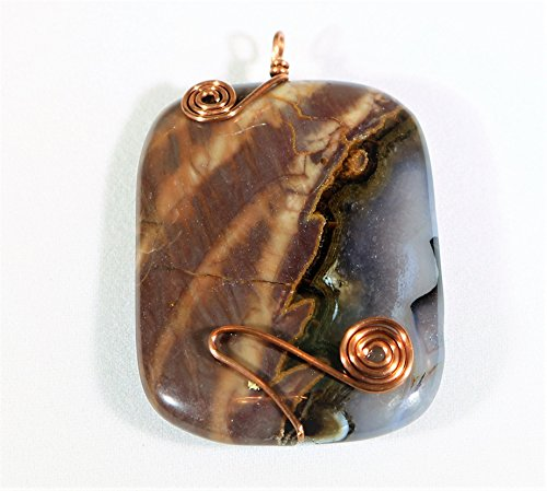 Thunder Agate Pendant with Copper