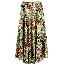 Astage Women`s Bohemia Skirt Morning Glory Floral-Print Maxi Skirt