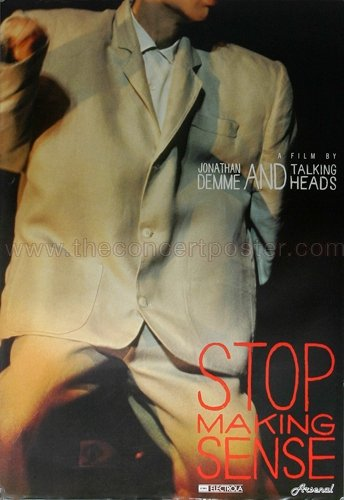 Talking Heads - Stop Making Sense 1982 - Concert Poster Plakat