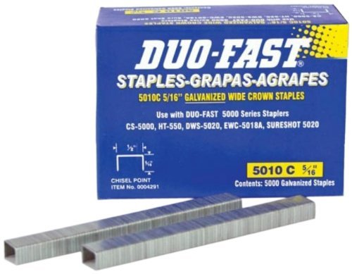 Duo Fast Chisel (Duo-Fast 5010C - 5/16-Inch x 20 Gauge Chisel Staples by Duo-Fast)