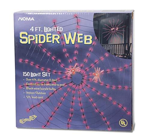 Darice 150-Light Halloween Spider Web, 4-Feet]()