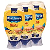Best Foods Real Mayonnaise, Squeeze 20 oz, 3 count