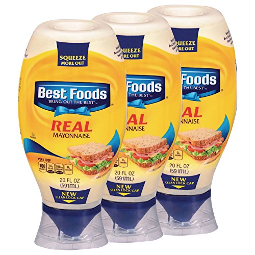Best Foods Real Mayonnaise, Squeeze, 20 oz, 3 count