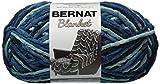 Bernat Blanket Yarn, 10.5 Ounce, Teal Dreams, Single Ball