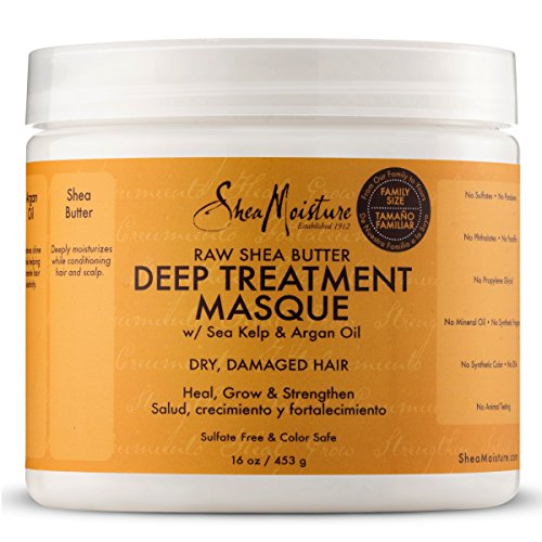 51chU6ptVSL SheaMoisture Raw Shea Butter Deep Treatment Masque | Family Size | 16 oz.