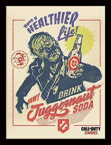 Call of Duty Imagen enmarcada 30/x 40/cm/ /Zombie Soda