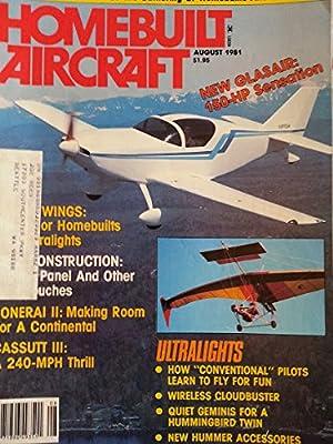Homebuilt Aircraft August 1981 - Ultralights