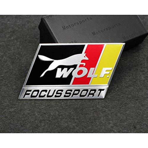 Car Styling Accessories C124 Emblem Badge Decal Sticker FOCUS SPORT FORD Racing Motorsport Wolf Focus 2 Focus 3 FIESTA F-150 Kuga FUSION ESCAPE EDGE