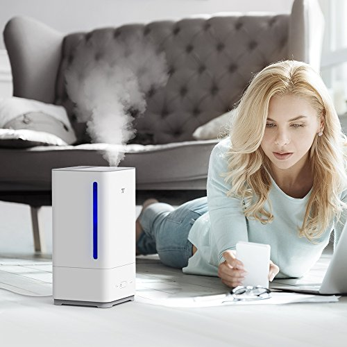 TaoTronics Top Fill Humidifiers Ultrasonic Cool Mist Essential Oil Diffuser Humidifier, Easy to Clean for Home Baby Large Room, 3 Mist Levels, Timer, Waterless Auto Shut Off -(5L/1.32 Gallon, US 110V) by TaoTronics (Image #8)