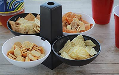 5 Pc Serving Bowl Set With Stand (black And White)