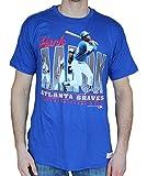 Hank Aason Atlanta Braves MLB Mitchell & Ness Blue Vintage Tailored Player Photo T-ShirtFALSE