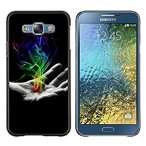 Stuss Case / Funda Carcasa protectora - Mano de humo - Samsung Galaxy E7 E700