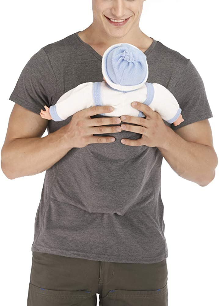 ViKimLand Kangaroo Care Dad Shirt Baby Wrap T-Shirt Baby Carrier Wrap Tank Shirt