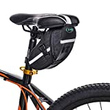 BYPA Bicycle Saddle Bag, Bike Bag Under Seat Pouch Wedge Packs with Reflective Stripes,Bike Seat Pack Bag Cycling for Foldable Road Mountain Bike,Waterproof