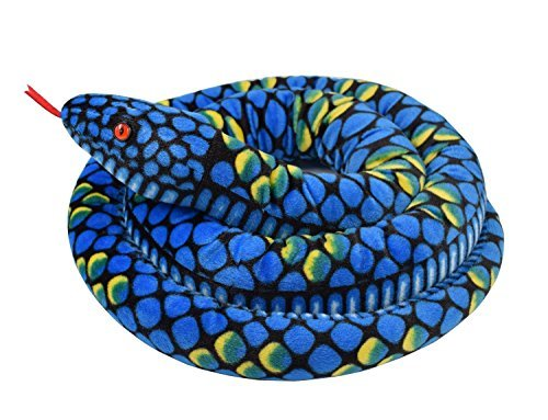 A-cool Giant Boa Constrictor Stuffed Animal Soft Snake Plush Toy (Blue(70
