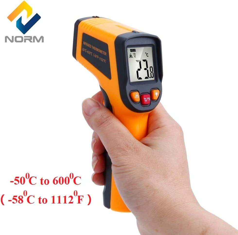 Best Quality 1 PCs Temperature Instruments by ZANAN Norm 400,600 Centidegree Non Contact Digital Infrared Thermometer,Cooking Thermometer