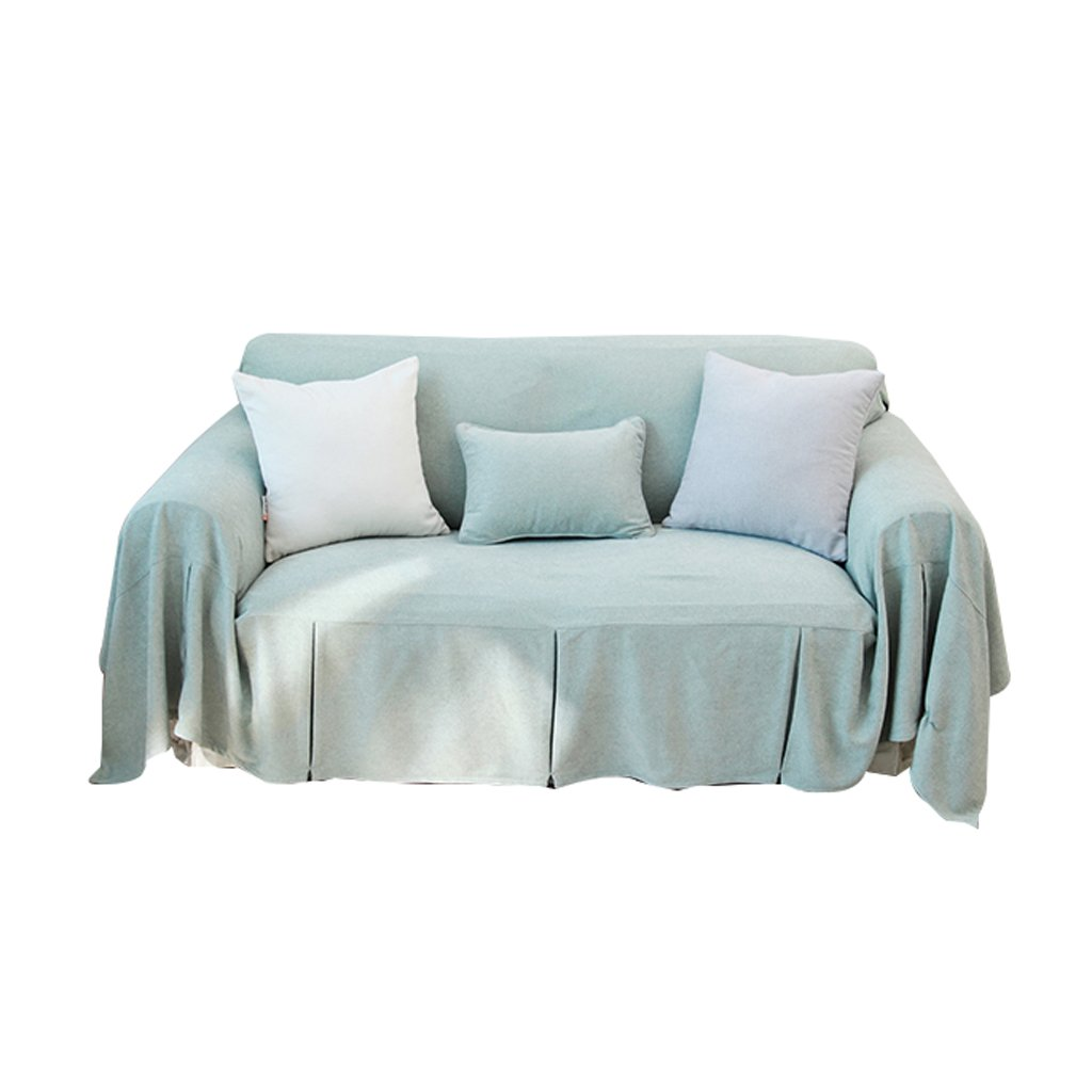 Light Blue Sofa Cover Towel Soft Sofa Cushion Sofa Cover Cloth Solid Simple Refreshing Full Cover Pure Color (Size : 200cm200cm)