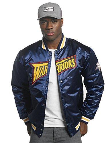 Jacke College amp; State NBA Bomber Mitchell Ness Satin Wordmark Navy Golden Jacket HWC Warriors 7qxvwd