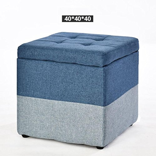 Kitzen Creative Wood Fabric changing shoes stool Storage Stool Stool Sofa Stool Tea Table Stool Square Stool Household Living room b