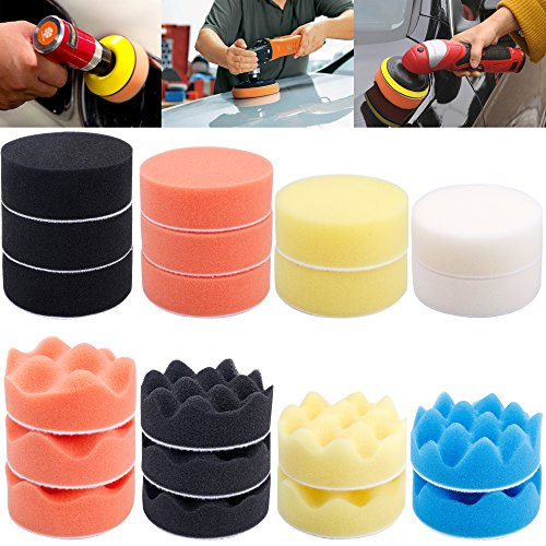 augshy-31-pcs-car-foam-drill-polishing-pad-kit-3-inch-buffing-padssponge-set-kit-with-m10-drill-adapter-for-car-polisher