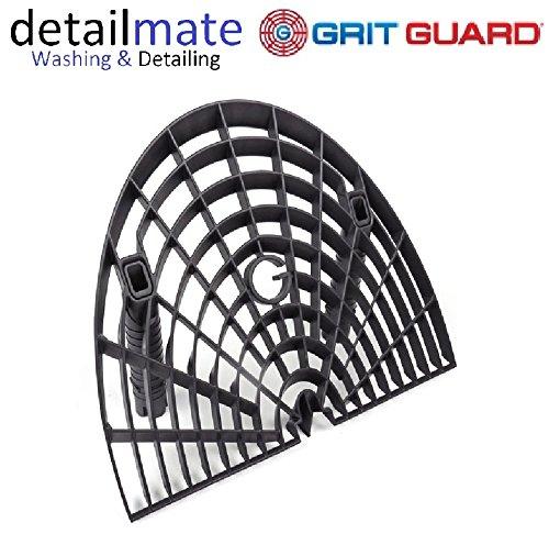 GritGuard Washboard Bucket Insert - schwarz / black - Fü r die kratzerfreie, schonende Autowä sche - by detailmate GGWB-BLK