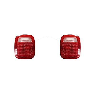 Fits Jeep Wrangler 1987-2006 Pair of Tail Light Lens Only W/GASKET& SCREW R=L Driver and Passenger Side CH2808106, CH280: Automotive