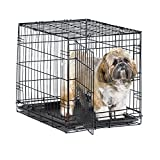 New World 24″ Folding Metal Dog Crate, Includes Leak-Proof Plastic Tray; Dog Crate Measures 24L x 18W x 19H Inches, For Small Dog Breed Review