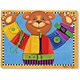 "Melissa & Doug Basic Skills Board, Developmental Toys, 6 Removable Pieces & Puzzle Board, Practice Fine Motor Skills, 15"" H x 11.5"" L x 0.5"" W"