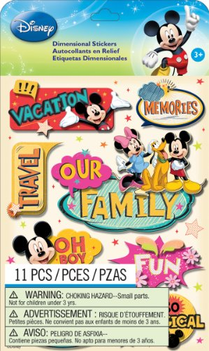 EK Success Disney Dimensional Stickers, Mickey Family