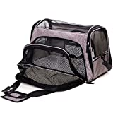 FurryTastic Premium Expandable Airline Approved Pet Carrier with Zipper Lockers and Leash Hook Collapsible Dog Carrier Best Cat Carrier for Small Breed Dogs Cats Kittens and Puppies (Grey) For Sale