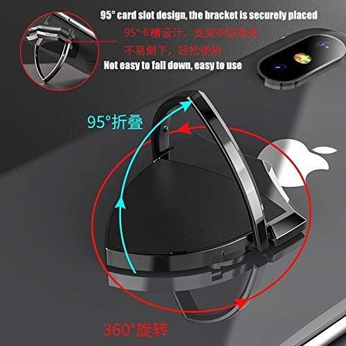 携帯電話ホルダー360度回転ブラケット携帯電話リングバックル磁気リングブラケット (Color : C)