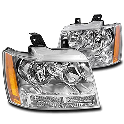 ZMAUTOPARTS For Chevy Suburban/Tahoe/Avalanche Crystal Style Chrome Headlights: Automotive