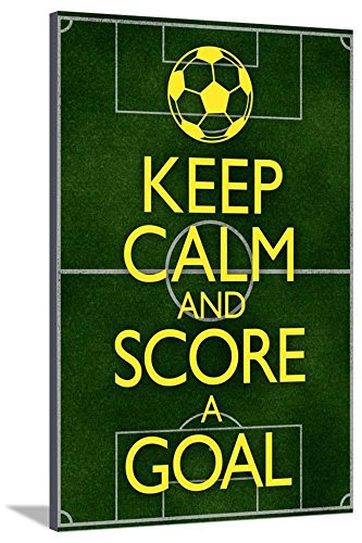 AllPosters Keep Calm and Score a Goal Soccer Stretched Canvas Print, 54 x 36 in by AllPosters