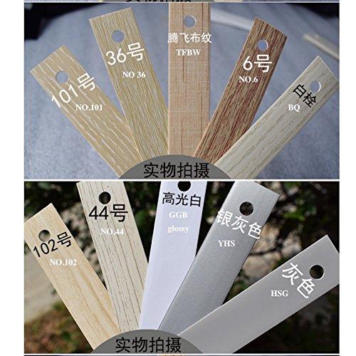 Hot Melt Pre pegado borde de PVC banding MFC chapa de madera oficina, cocina, clóset muebles Panel borde 2cm X 5m, 13/16...