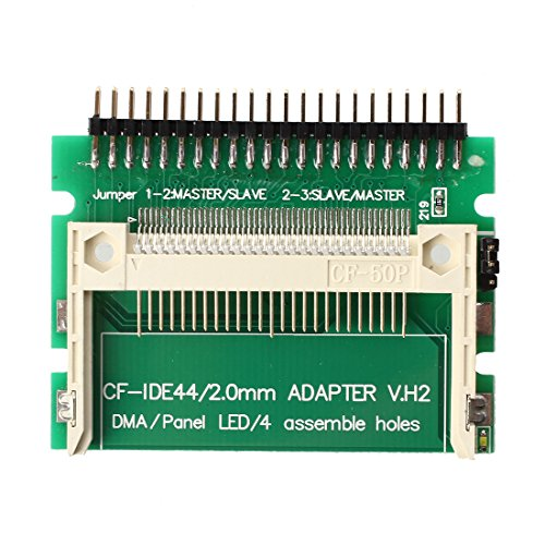 SODIAL(R) Pin-bare Laptop 44-Pin Male IDE To CF Card Adapter