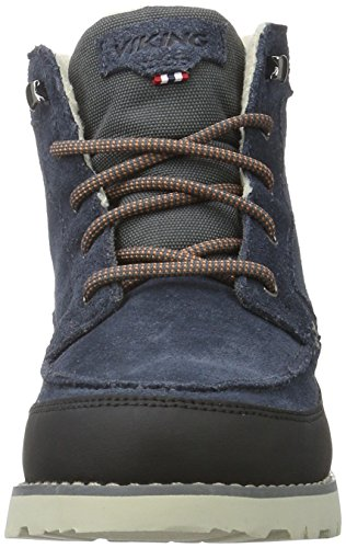 Boots Viking Dark 7677 Blau Blue Charcoal Kinder Jr Combat Kjenning Unisex xrXqR0r