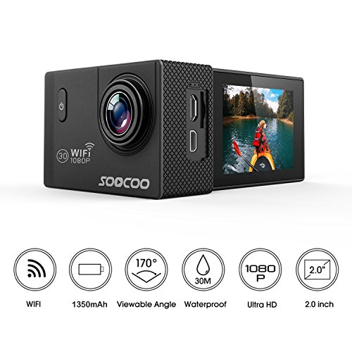 SOOCOO C10S 12MP WIFI Action Camera (Black) - 1