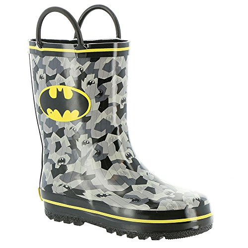 Dc Shoes Boots (Favorite Characters Baby Boy's Batman Rain Boots BMS503 (Toddler/Little Kid) Black/Grey/Yellow 10 M US Toddler)