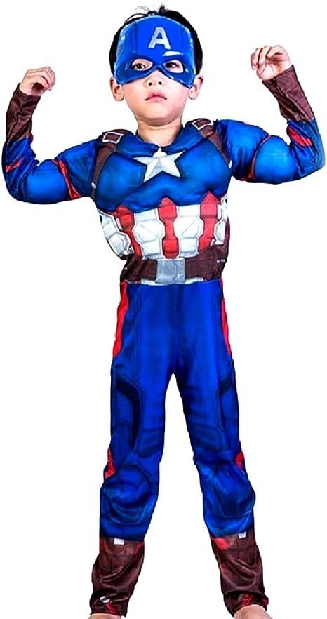 Disfraz de Capitán América - Busto musculoso - Superhéroe y ...
